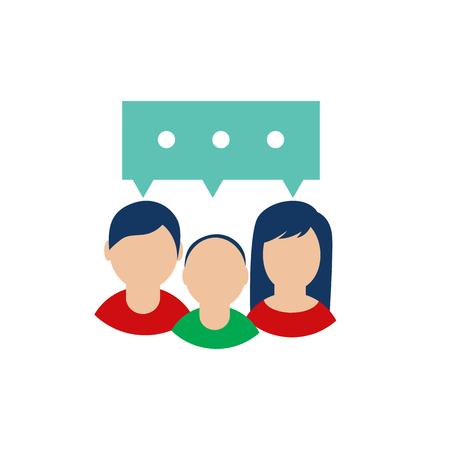 Family Testimonial Icon Design Vektorové ilustrace
