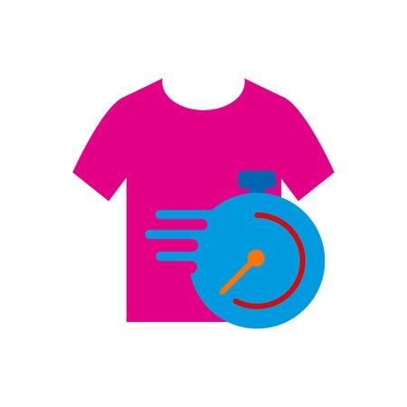 Laundry Time  Icon Design Illustration