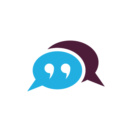 Quote Testimonial Icon Design Ilustracja