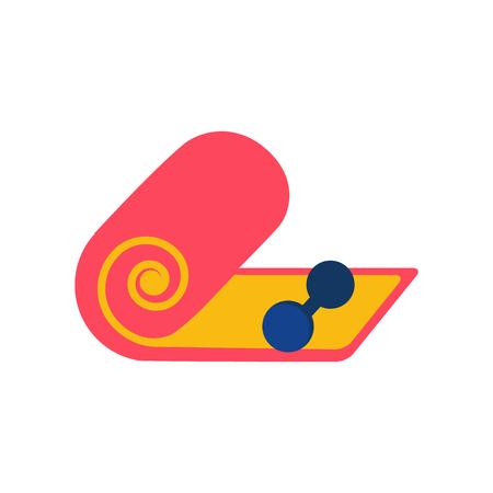 Sport Mat Logo Icon Design Illustration