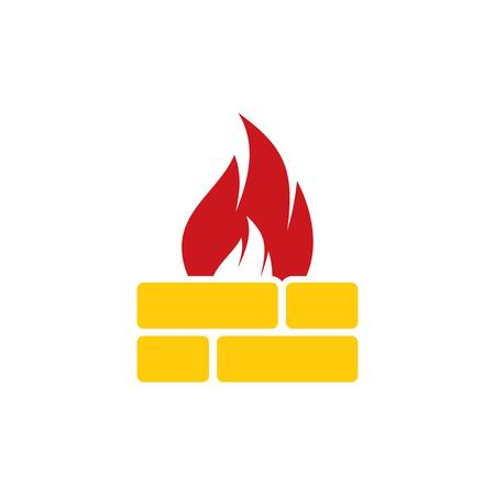 Fire Brick Logo Icon Design
