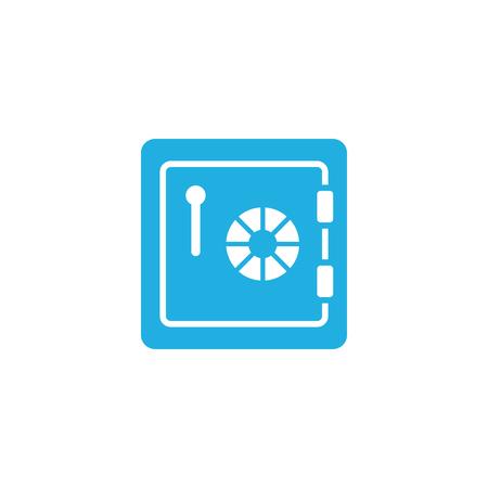 Deposit Safety Box Logo Icon Design Illustration
