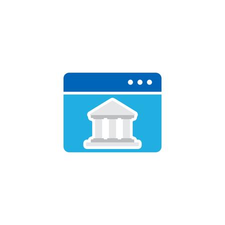 Online Court Logo Icon Design