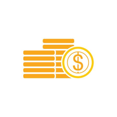 Conception d & # 39; icône de logo de pièce de monnaie Logo