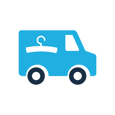 Laundry Delivery Logo Icon Design