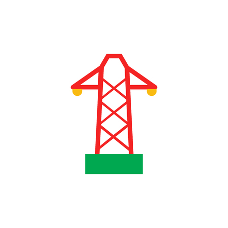 Tower Construction  Icon Design