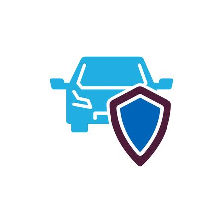 Car Insurance  Icon Design Illustration