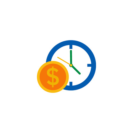 Time Money Logo Icon Design Çizim