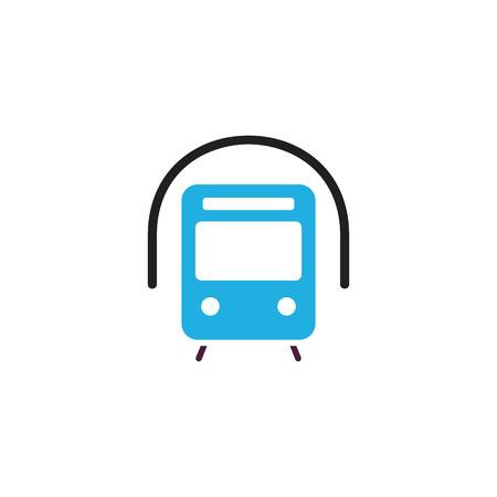 Train Transportation Logo Icon Design Illustration