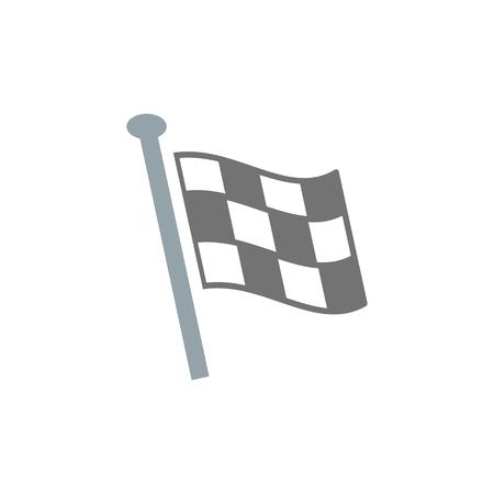 Flag Sport Logo Icon Design