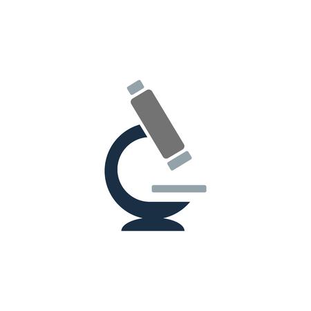 Microscopio scienza Logo Icon Design