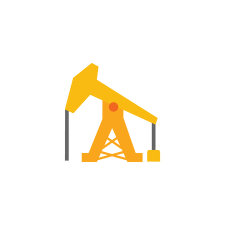 Oil Well Construction  Icon Design