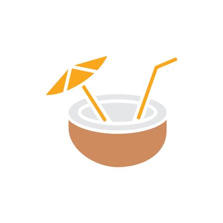 Coconut Summer  Icon Design