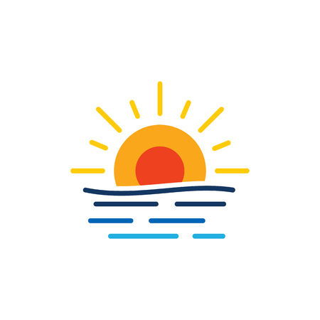 Sunset Summer Icon Design