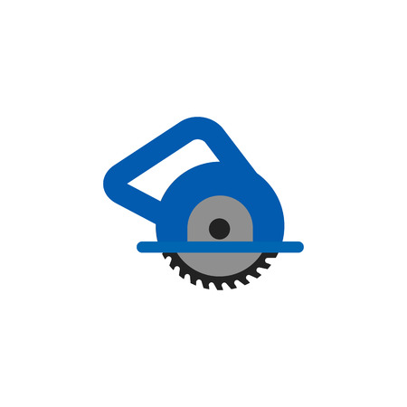 Circular Saw Tool Icon Design Stock Illustratie