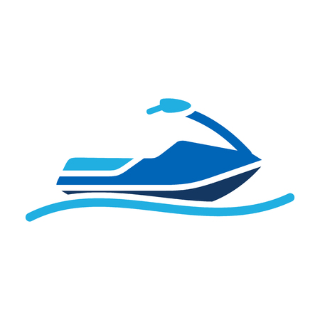 Jetski Summer Icon Design Illustration