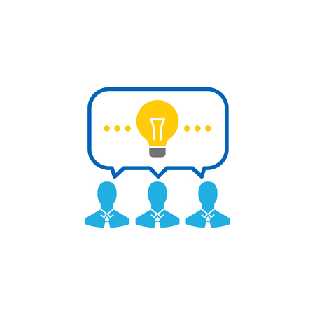 Idea Business Icon Design Ilustrace