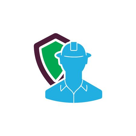 Worker Insurance Icon Design