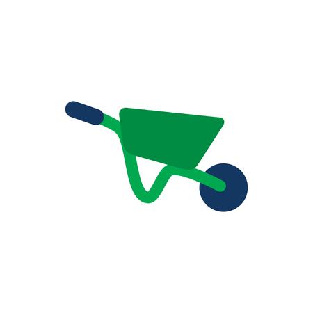 Wheelbarrow Tool Icon Design