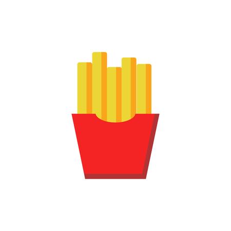 French Fries Food And Cake Icon Design Ilustração