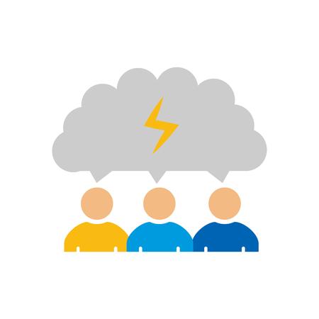 Talk Business Strategy Icon Design Ilustração