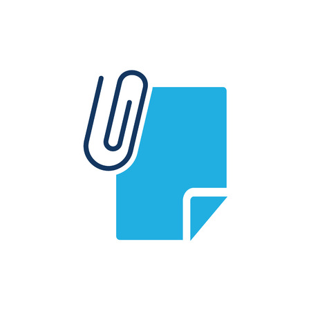 Clip Document Icon Design Illustration
