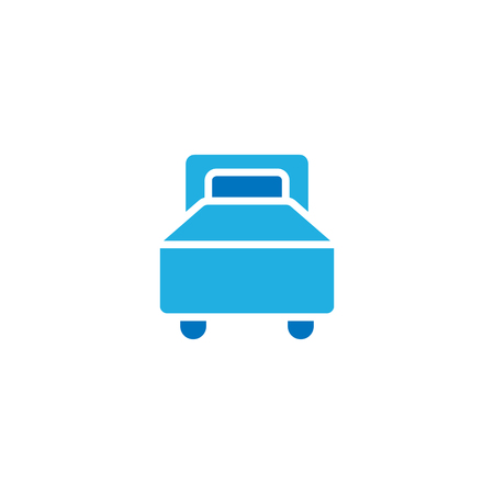 Bed Hotel Icon Design