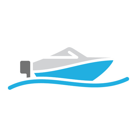 Speedboat Summer Logo Icon Design Illustration