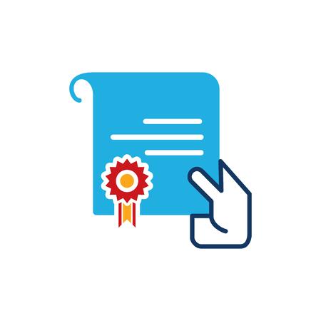 Best Insurance Logo Icon Design Иллюстрация