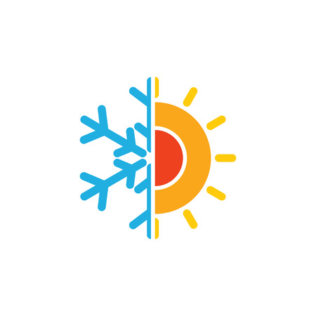 Hot And Cold Hotel Logo Icon Design 일러스트