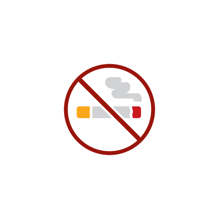 No Smoking Hotel Logo Icon Design