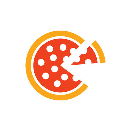Pizza Food Logo Icon Design 일러스트