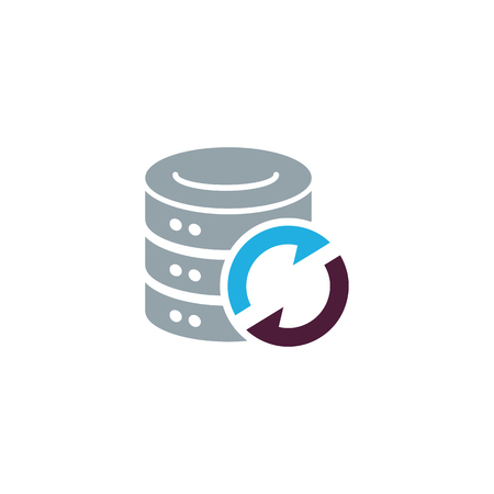 Refresh Database Logo Icon Design