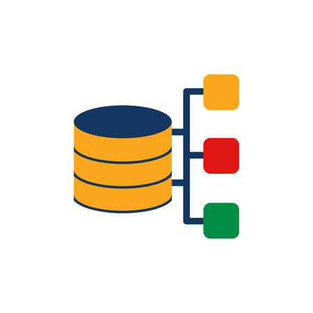 Diagram Database Logo Icon Design