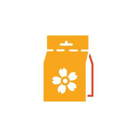 Seed Gardening Logo Icon Design Ilustracja
