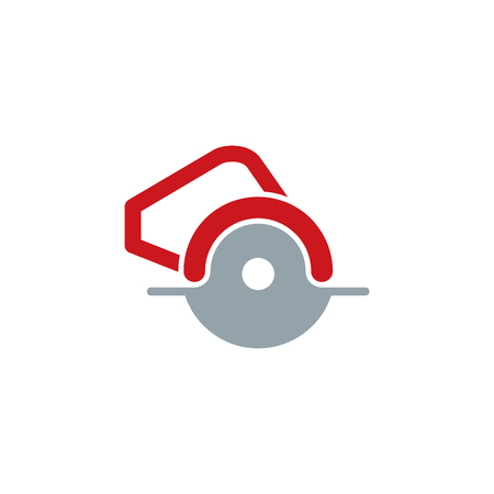 Circular Saw Tool Logo Icon Design Vettoriali