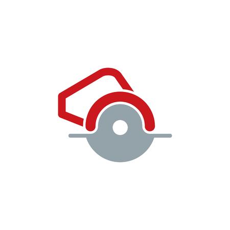 Circular Saw Tool Logo Icon Design Illustration