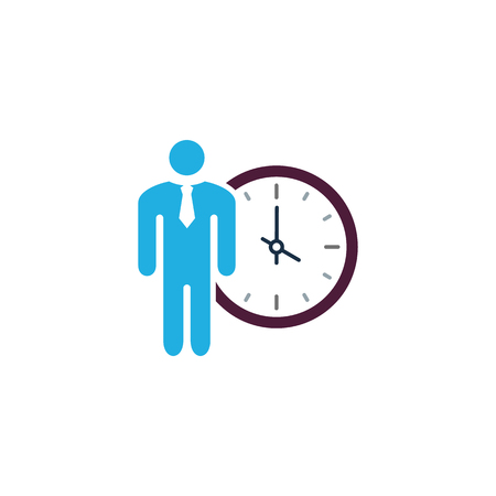 Time Business Logo Icon Design Иллюстрация