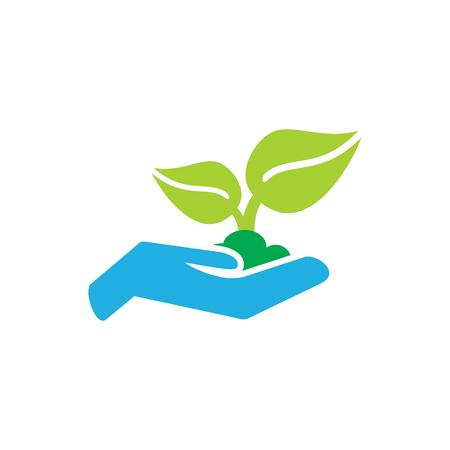 Care Insurance Logo Icon Design Standard-Bild - 106316626