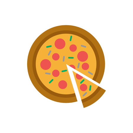 Pizza Food And Cake Logo Icon Design Иллюстрация
