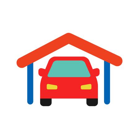 Garage Automotive Logo Icon Design Stock Illustratie