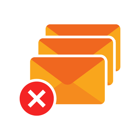 Delete Email Logo Icon Design