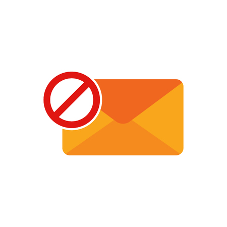 Block Email Logo Icon Design