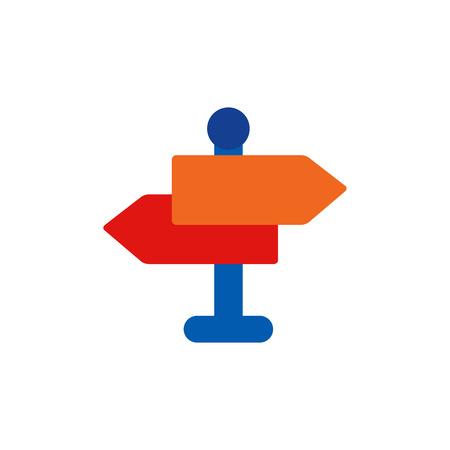 Direction Business Strategy Logo Icon Design  イラスト・ベクター素材