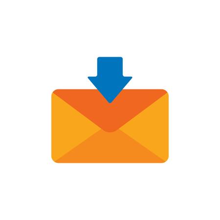 Receive Email Logo Icon Design 일러스트