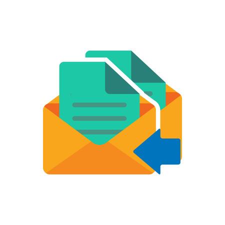 Receive Email Logo Icon Design  イラスト・ベクター素材