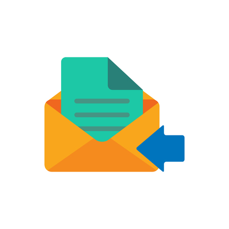 Receive Email Logo Icon Design Ilustrace