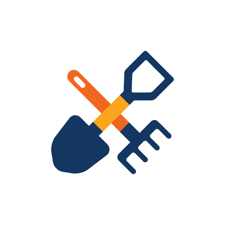 Trowel Gardening Logo Icon Design