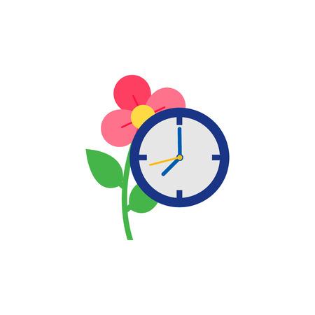Time Gardening Logo Icon Design