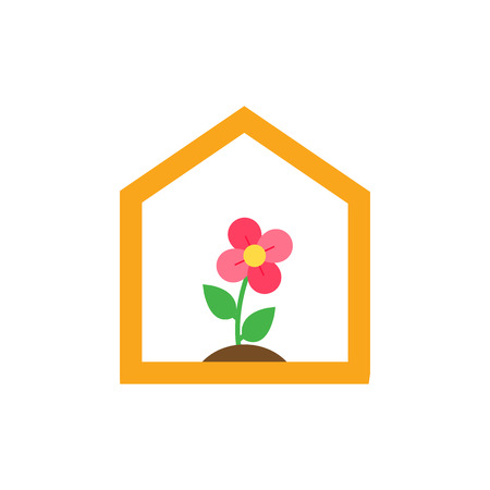 Greenhouse Gardening Logo Icon Design